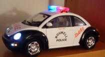 Matchbox 1:18 DARE Police Car, modified with working flashing lights!