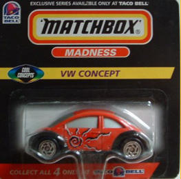 A special edition as part of a series of vehicles from Matchbox and Taco Bell, sold in Taco Bell restaurants.  Note the different painted out windows.