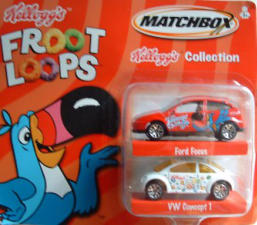 Released in 2002 and sold through Avon catalogs of all places!  I'm not sure what the relationship is between Matchbox and Kellogg's, and what that has to do with Avon.  Quite a combination!