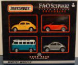 Released in 2000 by the FAO Schwarz toy store, this is a neat set for the New Beetle or Volkswagen enthusiast.