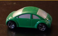 Matchbox green Concept with painted-out windows.
