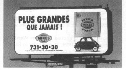 Yes, that's my Isetta in this billboard taken in Montreal just after the major ice storm.