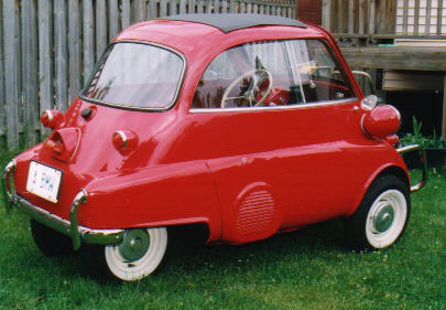 My 1959 BMW Isetta 300.  Yes, this model has 4 wheels... British models had only 3.