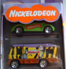 As part of a set of 5 vehicles from the Nickelodeon cartoon series Rugrats, this convertible Concept NB has strange colours.
